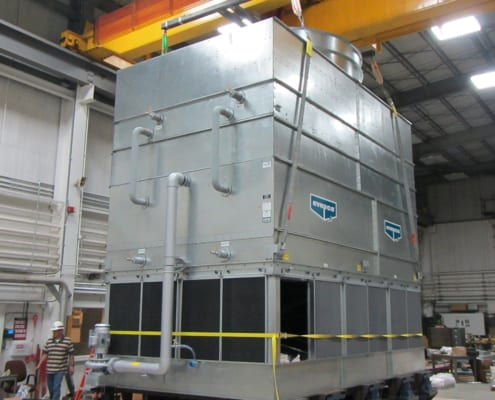 Structural Integrity Associates | Cooling Tower Mounted to Shake Table for Seismic Testing