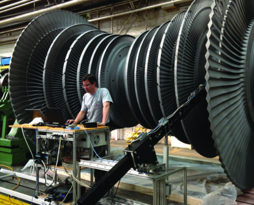 Structural Integrity Associates | Non-destructive Testing (NDT) - Custom Solutions - SI Turbine Blade Attachment Scanner