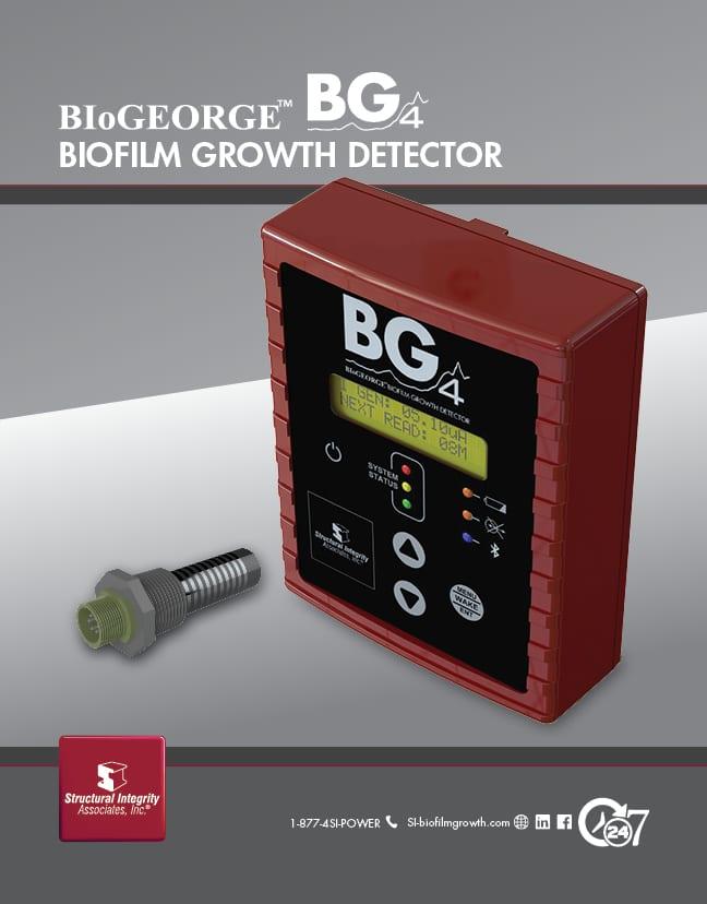 BioGEORGE Specifications BIOFILM GROWTH DETECTOR