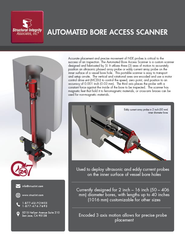 Structural Integrity Associates | Automated Bore Access Scanner