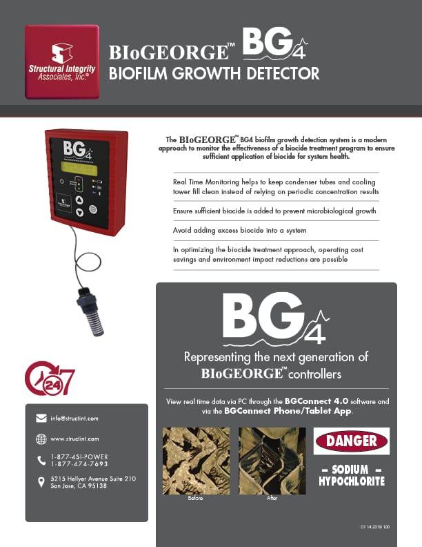 Structural Integrity Associates | BIoGEORGE BG4 Biofilm Growth Detector 2021