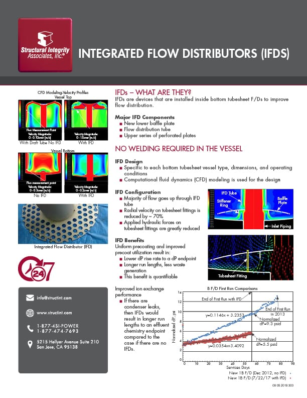 Structural Integrity Associates | Integrated Flow Distributors (IFDs)