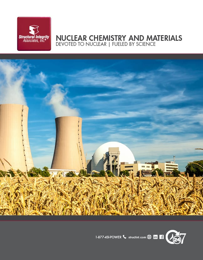 Structural Integrity Associates | Nuclear Chemistry and Materials Devoted to Nuclear