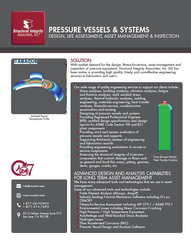 Structural Integrity Associates | Pressure Vessels & Systems Design, Life Assessment, Asset Management & Inspection