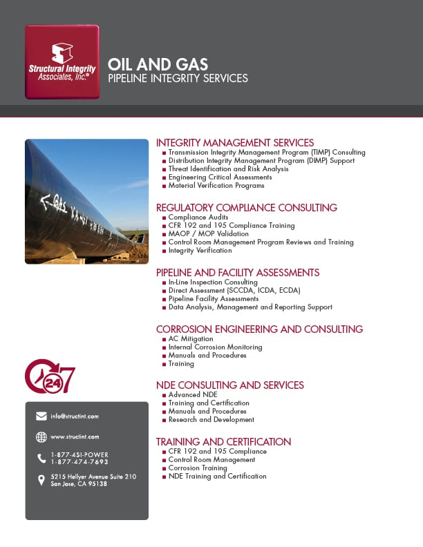 Structural Integrity Assocites | Oil and Gas Pipeline Integrity Services