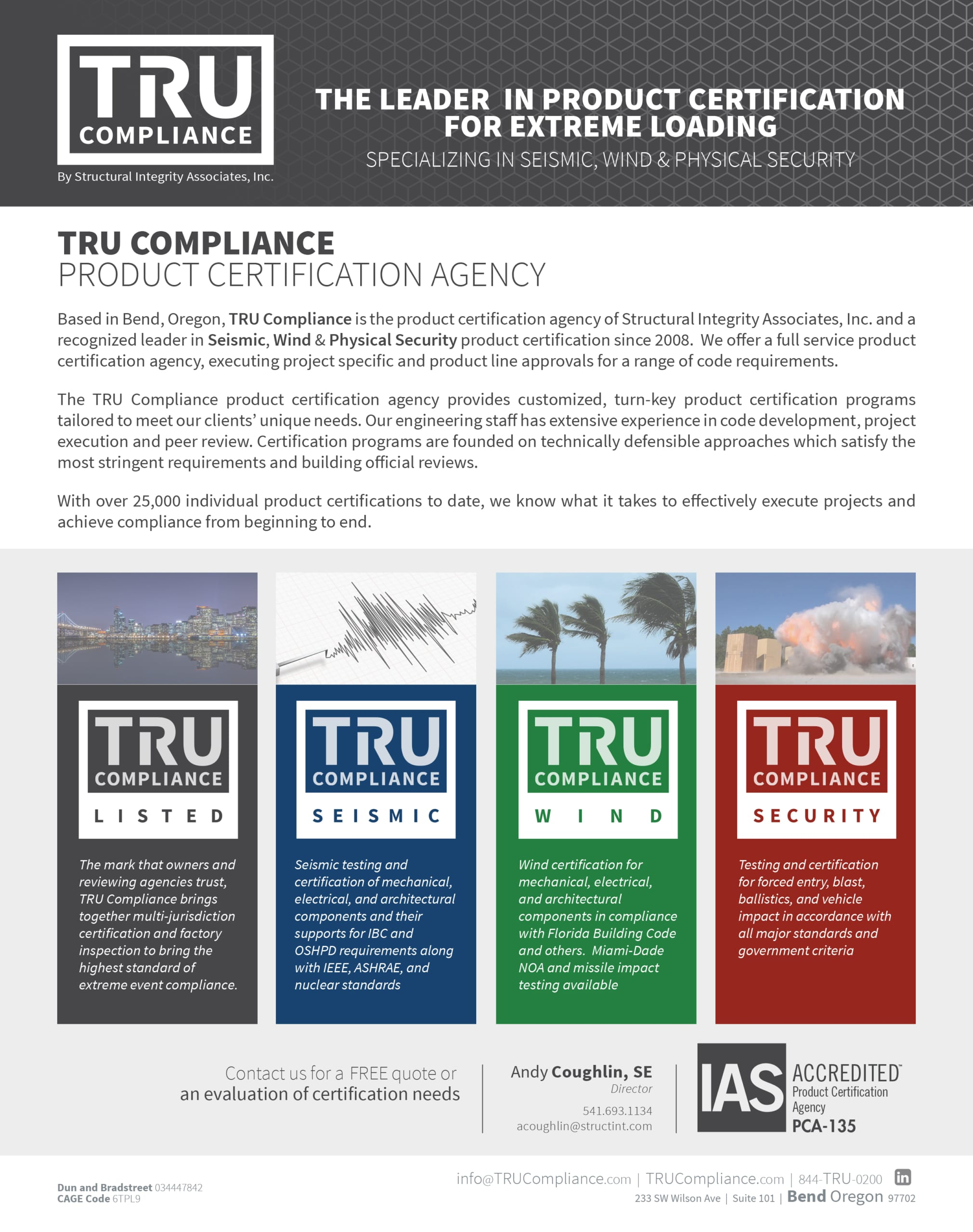 TRU Compliance | Leader in Product Certifiaction for Extreme Loading