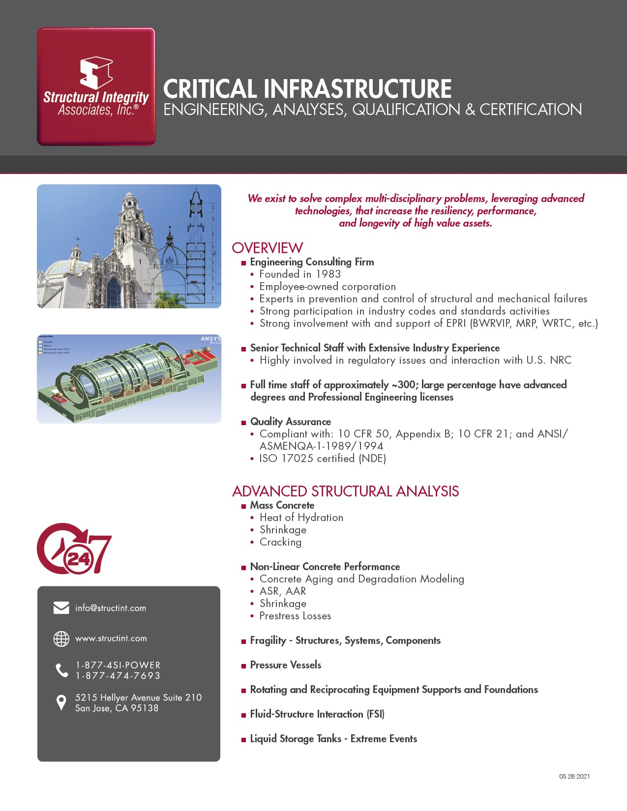 Critical Infrastructure - Engineering, Analyses, Qualification & Certification
